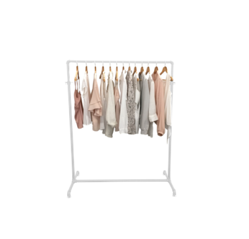 Industrial Pipe Clothes Rack Garment Display Rax And Dollies