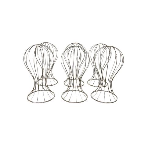 Female Mannequin Head Silver Wire Rax Dollies
