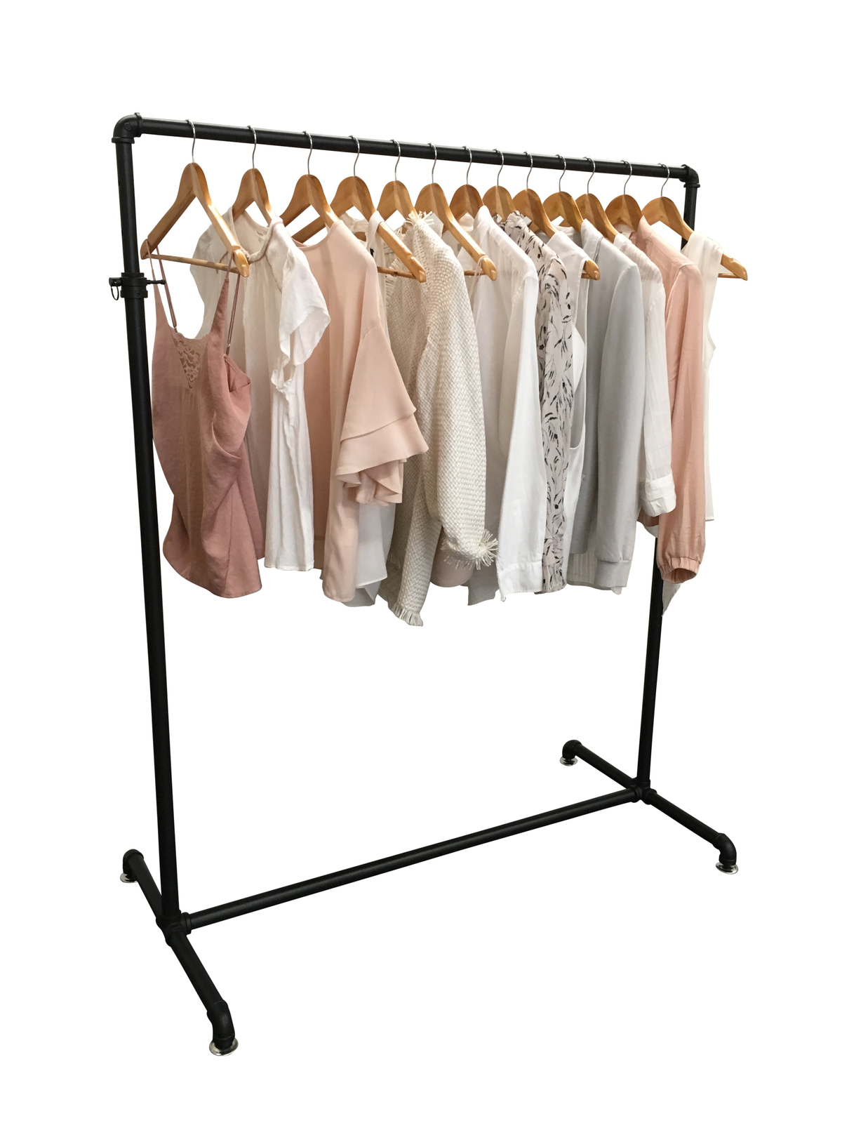 Industrial Pipe Clothes Rack Garment Display Rax And