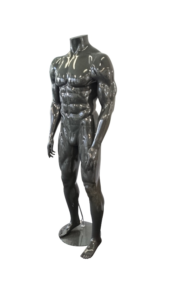 Male Headless Muscular Mannequin With Base Fibreglass